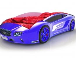 Объемная кровать машина Roadster Лексус Синяя купить в наличии в Санкт-Петербурге