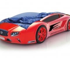 Объемная кровать машина Roadster Лексус Красная