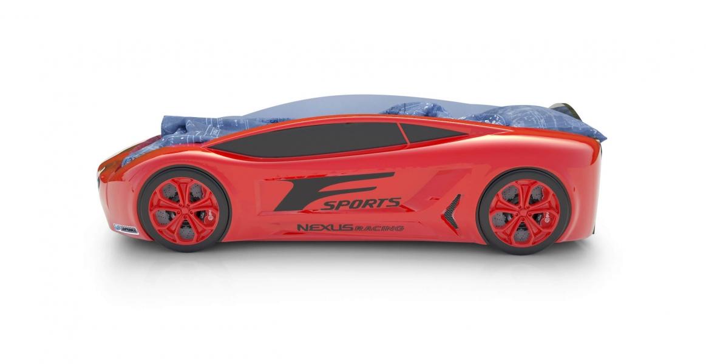 Объемная кровать машина Roadster Лексус Красная с удобной инструкцией