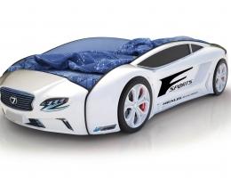 Объемная кровать машина Roadster Лексус Белая купить в наличии в Санкт-Петербурге