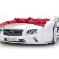 Объемная кровать машина Roadster Лексус Белая в интернет-магазине