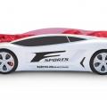 Объемная кровать машина Roadster Лексус Белая с профессиональной сборкой