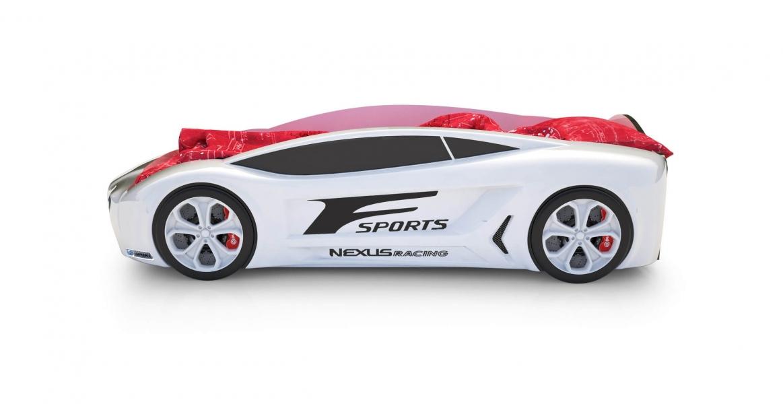 Объемная кровать машина Roadster Лексус Белая с официальной гарантией