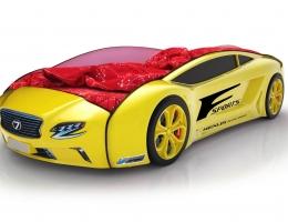 Объемная кровать машина Roadster Лексус Желтая купить в наличии в Санкт-Петербурге