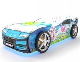 Объемная кровать машина Турбо смешарики синяя купить в наличии в Санкт-Петербурге