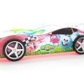Объемная кровать машина Турбо смешарики розовая в интернет-магазине