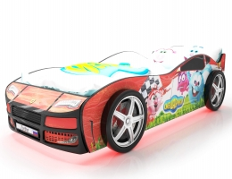 Объемная кровать машина Турбо смешарики красная купить в наличии в Санкт-Петербурге