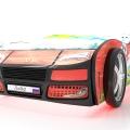 Объемная кровать машина Турбо смешарики красная без запаха