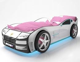 Объемная кровать машина Турбо Белая купить в наличии в Санкт-Петербурге