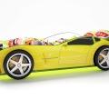 Объемная кровать машина Турбо Желтая по отличной цене