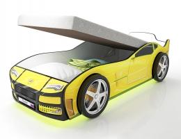 Кровать машина Турбо Желтая с подъемным матрасом купить в наличии в Санкт-Петербурге