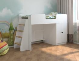 Детская кровать чердак Белая игровая 160*70 купить в наличии в Санкт-Петербурге
