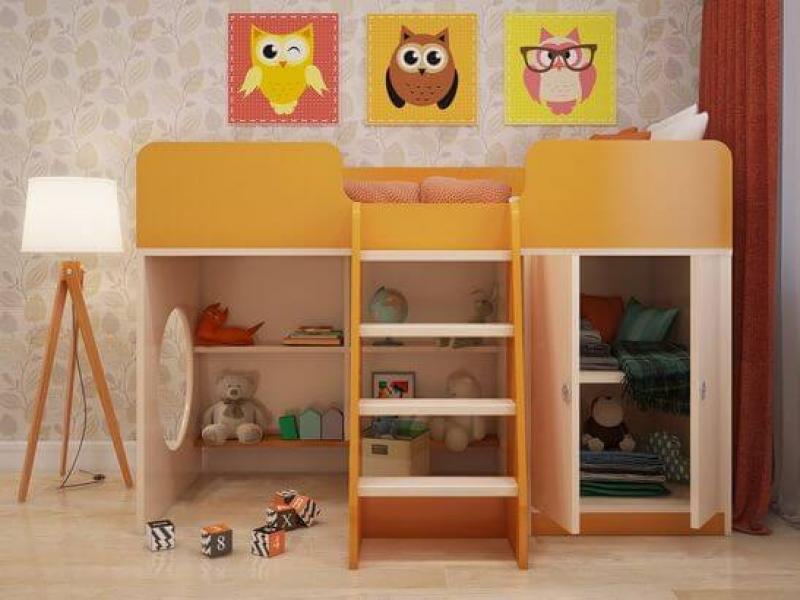 Игровая кровать чердак Апельсин с хорошими отзывами
