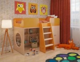 Игровая кровать чердак Апельсин купить в наличии в Санкт-Петербурге
