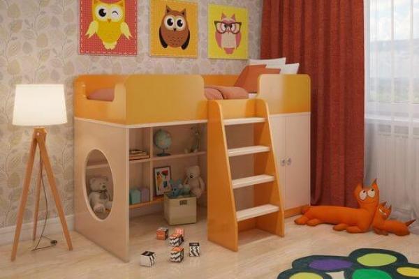 Игровая кровать чердак Апельсин в Санкт-Петербурге с доставкой