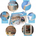Кровать чердак Белая с кокосовым беспружинным матрасом в комплекте с хорошими отзывами
