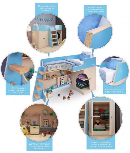 Игровая кровать чердак Апельсин в интернет-магазине