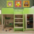 Кровать чердак Зеленая с удобной инструкцией