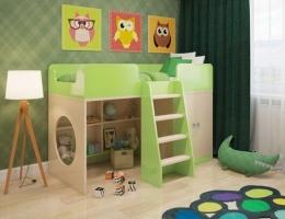Кровать чердак Зеленая купить в наличии в Санкт-Петербурге