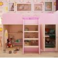 Игровая кровать-чердак Розовая без запаха