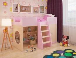 Игровая кровать-чердак Розовая купить в наличии в Санкт-Петербурге