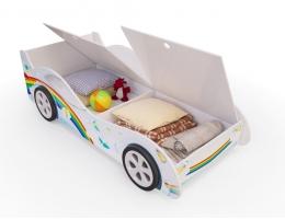 Детская кровать - машина Радуга с ящиком купить в наличии в Санкт-Петербурге