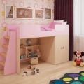 Игровая кровать-чердак Розовая по отличной цене