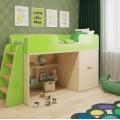 Кровать чердак Зеленая с хорошими отзывами