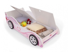 Детская кровать - машина Принцесса с ящиком для игрушек купить в наличии в Санкт-Петербурге