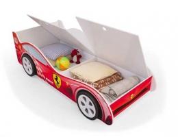 Детская кровать - машина Красная Феррари с ящиками купить в наличии в Санкт-Петербурге