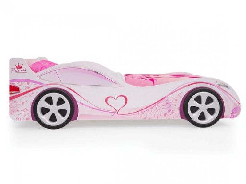 Детская кровать - машина Принцесса с ящиком для игрушек по отличной цене