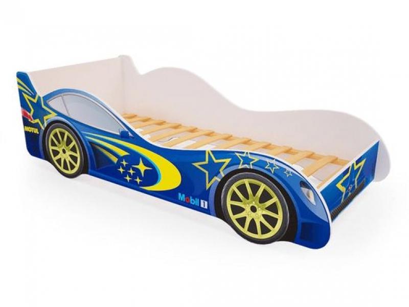 Детская кровать - машина Синяя с профессиональной сборкой