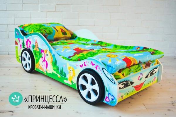 Детская кровать - машина Принцесса1 в Санкт-Петербурге с доставкой