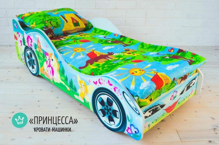 Детская кровать - машина Принцесса1 с удобной инструкцией