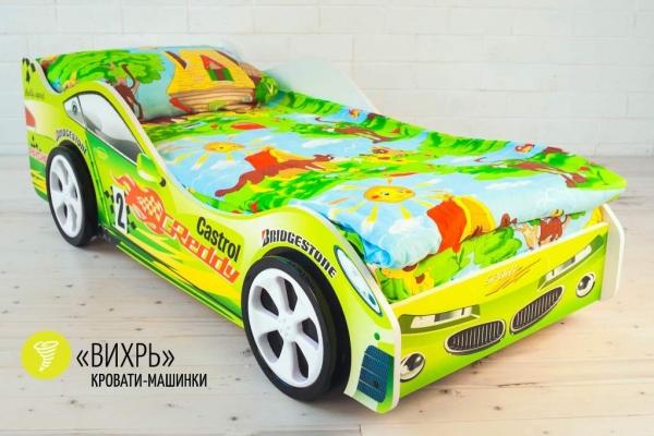 Детская кровать - машина Вихрь в Санкт-Петербурге с доставкой