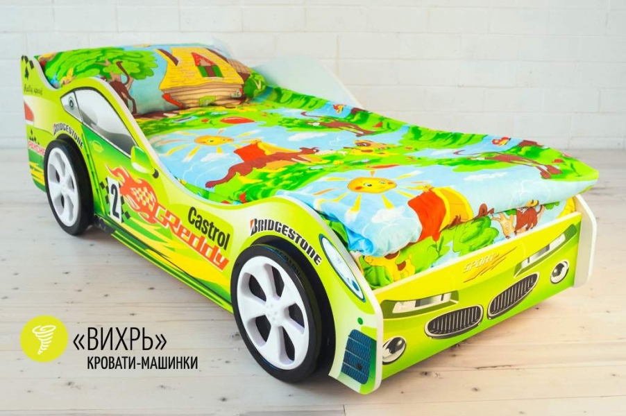Детская кровать - машина Вихрь с официальной гарантией