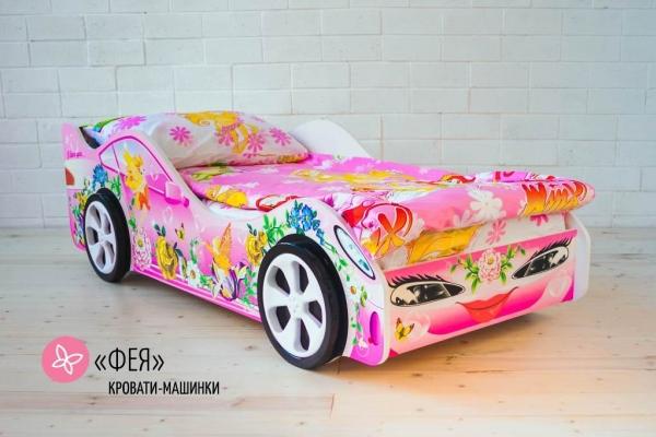 Детская кровать машина для девочки ФЕЯ в Санкт-Петербурге с доставкой
