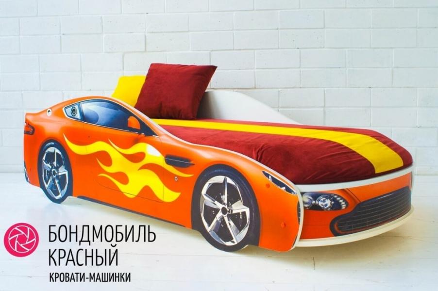 Детская кровать - машина БОНДМОБИЛЬ КРАСНЫЙ без запаха
