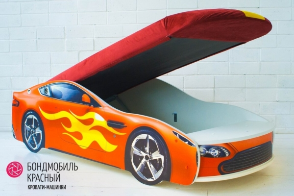 Детская кровать - машина БОНДМОБИЛЬ КРАСНЫЙ в Санкт-Петербурге с доставкой