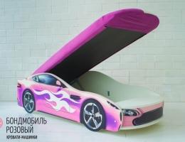 Детская кровать - машина БОНДМОБИЛЬ РОЗОВЫЙ купить в наличии в Санкт-Петербурге