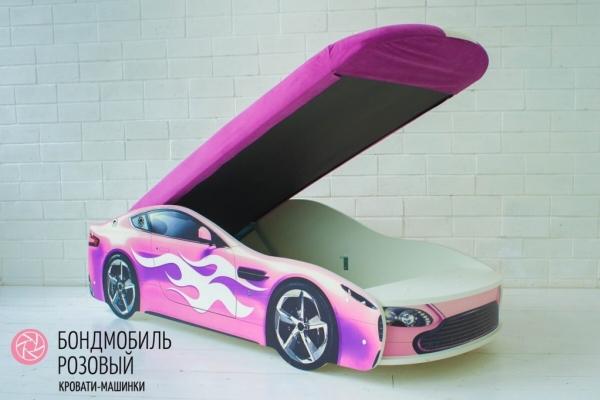 Детская кровать - машина БОНДМОБИЛЬ РОЗОВЫЙ в Санкт-Петербурге с доставкой