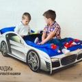 Детская кровать - машина AUDI (АУДИ) с профессиональной сборкой