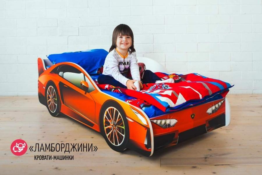 Детская кровать-машина LAMBORGHINI (ЛАМБОРДЖИНИ) без запаха
