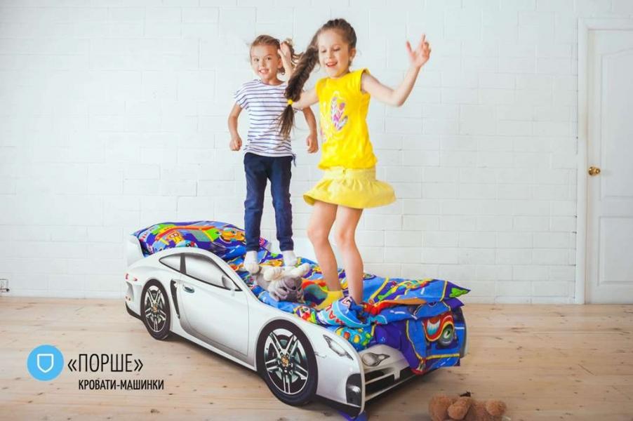 Детская кровать - машина PORSCHE (ПОРШЕ) с удобной инструкцией