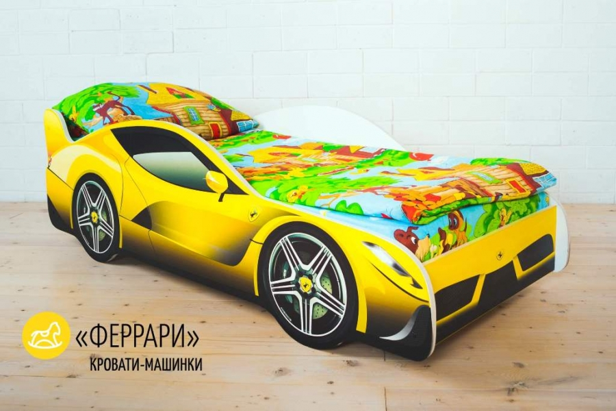 Детская кровать - машина FERRARI (ФЕРРАРИ) с профессиональной сборкой