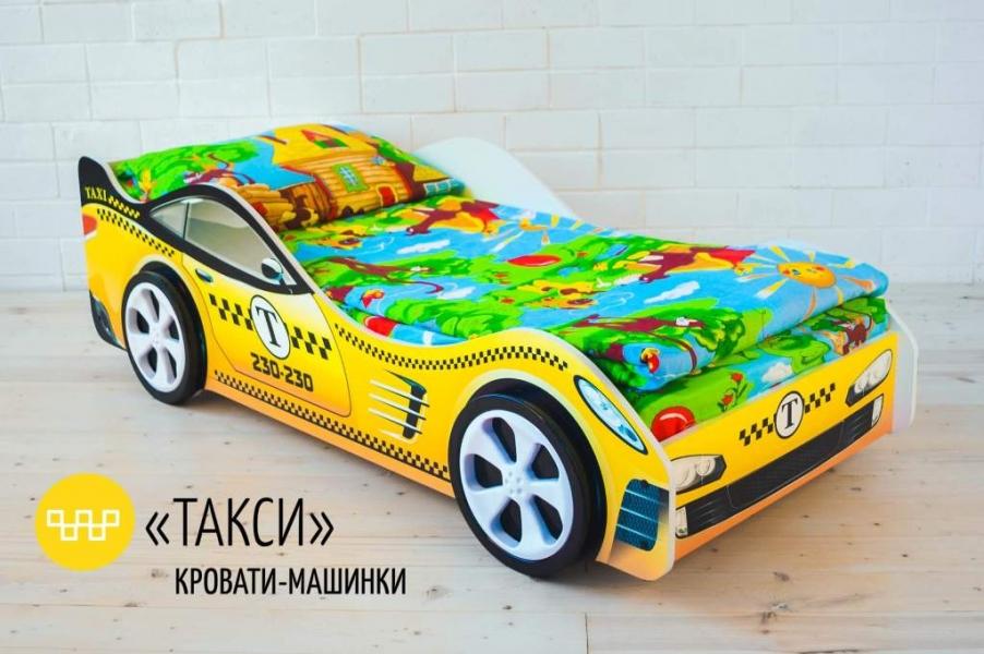 Детская кровать - машина Такси без запаха