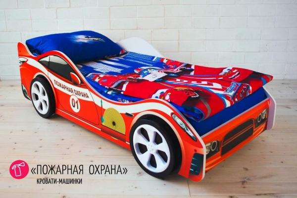 Пожарная охрана кровать - машина детская в Санкт-Петербурге с доставкой