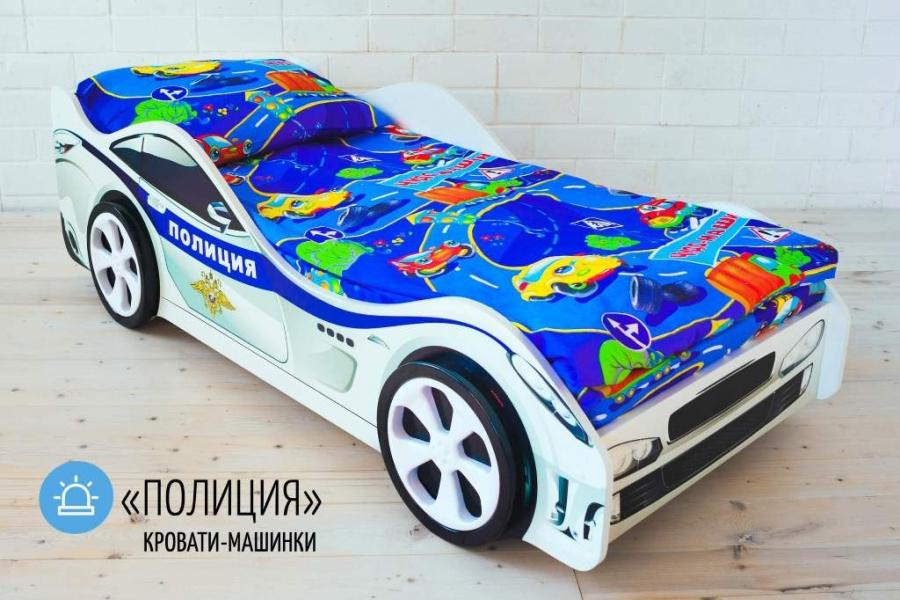 Детская кровать машина ПОЛИЦИЯ с официальной гарантией