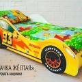 Детская кровать - машина Тачка Желтая с хорошими отзывами