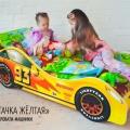 Детская кровать - машина Тачка Желтая по отличной цене
